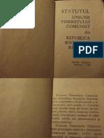 Statutul Uniunii Tineretului Comunist 1966