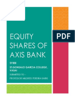 Ananlysis Equity Shares of Axis Bank
