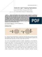 Metal Nanoparticles for Light Trapping Applications