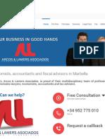Uitnodiging om de vernieuwde en verbeterde web site van Arcos Lamers Asociados te bezoeken.doc