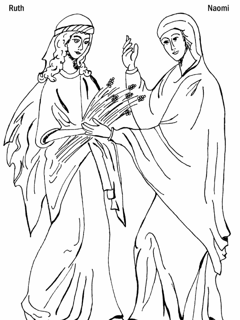 Ruth and Naomi Coloring Page  PDF
