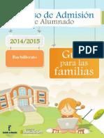 Instrucciones admisión curso 2014/15 Bachillerato