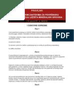 Pravilnik o Tehnickim Zahtevima Za Povrsinsku Eksploataciju Lezista Min Sirovina