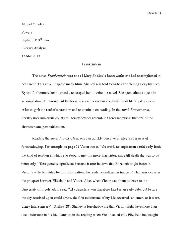 Frankenstein Essay Frankenstein Mary Shelley