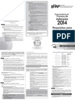 Convocatoria de Ingreso a la BUAP 2014 nivel Licenciatura