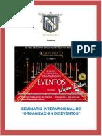 """SEMINARIO INTERNACIONAL DE """"ORGANIZACIÓN DE EVENTOS"""""""