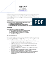 katiehall resume