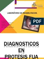 Diagnósticos en prótesis fija