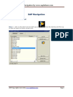 Sap Step by Step Navigation Guide for Beginners