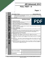 JEE Advanced Full Test II Paper 1