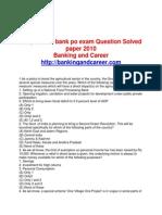 Corporation Bank PO 2010