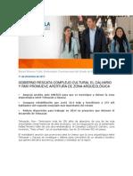 11-12-2013 Blog Rafael Moreno Valle - GOBIERNO RESCATA COMPLEJO CULTURAL EL CALVARIO Y RMV PROMUEVE APERTURA DE ZONA ARQUEOLÓGICA.pdf