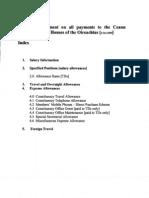 Explanatory Document on CC Expenses