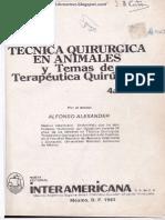 Tecnica Quirurgica Animales 4 Edicion.pdf