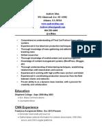 Andrew Iden's Resume