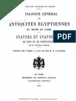 Catalogue Général des antiquités égyptiennes du musée du caire. Statues et statuettes de rois et de particuliers 1925.pdf