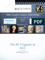 10th grade course selection presentation 2014 - part one