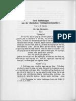 Zwei Erzählungen aus der tibetischen Vetalapañcavimsatika(tib.)