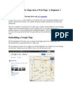 Embedding Google Maps Into a Web Page