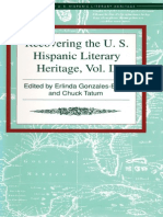 Recovering the US Hispanic Literary Heritage, Vol II   edited by Erlinda Gonzales-Berry and Charles Tatum