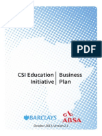 Barclays_ABSA CSI Education Initiative - Business Plan (Orignal)