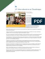 11-05-2013 El Sol de Puebla - Supervisa RMV obras educativas en Tlacuilotepec .pdf