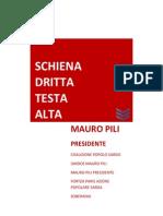Il programma di Mauro Pili