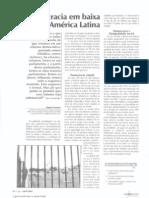 Democracia em baixa na América Latina