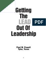 Getting Lead Leadership