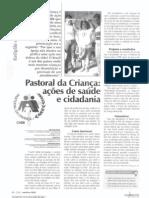 Pastoral da Criança ações de saúde e cidadania