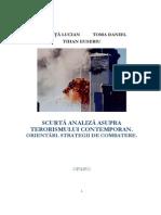 Scurta Analiza Asupra Terorismului. Orientari. Strategii de Combatere