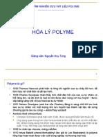 Bài giảng hóa lý - Polyme