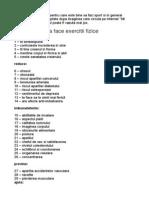 50 Motive Pt. a Face Exercitii Fizice