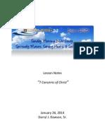 Lifelines Lesson 140126 - 7 Concerns of Christ - Darryl J Dawson Sr