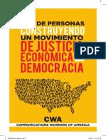 Construyendo Un Movimiento de Justicia Economica y Democracia