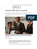 15-05-2013 Síntesis Metrópoli - Reconoce RMV labor de maestros.pdf