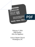 Bulletin, Sunday, February 9, 2014