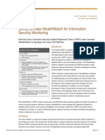 Using Lancope StealthWatch for Information Security Monitoring