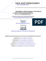 Urban Poverty and Vulnerability to Climate Change in Latin America