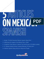 5 Mexican Spanish Articles by Speaking Latino