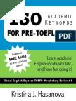 Academic Keywords for TOEFL