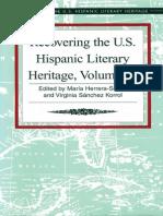 Recovering the US Hispanic Literary Heritage, Vol III edited by Maria Herrera-Sobek