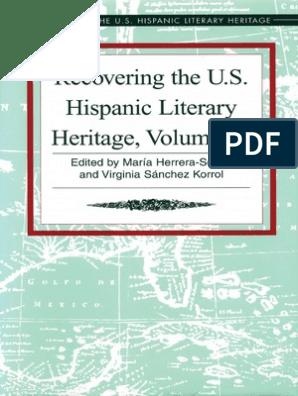Recovering The Us Hispanic Literary Heritage Vol Iii Edited