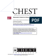 Spirometric Criteria for Airway Obstruction