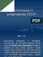 Discriminarea în jurisprudenţa CEDO