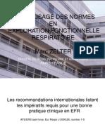 DU BON USAGE DES NORMES EN EXPLORATION FONCTIONNELLE RESPIRATOIRE