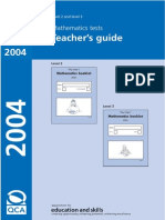 2004 Maths Key Stage 1 Paper Teacher Guide and Oral