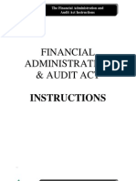 Financial Administration and Audit Act (FAA) - INSTRU
