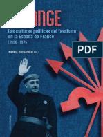 Falange Las culturas políticas del fascismo