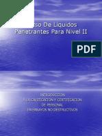Curso De Líquidos Penetrantes Para Nivel II